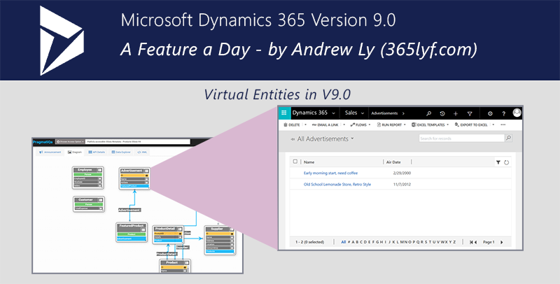 D365 V9 0 – A Feature a Day – Virtual Entities in V9 0