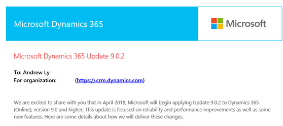 Dynamics 365 version 9 0 2 is go! - Microsoft Dynamics CRM